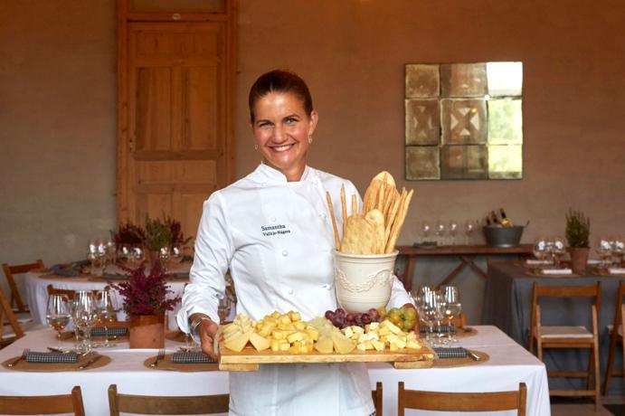Samantha de España en su cocina