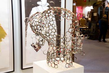 art sculpture representing a woman's head