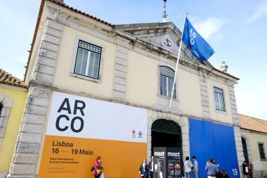 Fachada de Cordoaria Nacional sede de Arco Lisboa