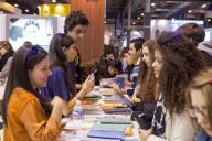 orientation stand for scholarships at the Aula trade show