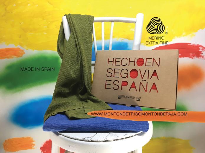 Chales tejidos en España.