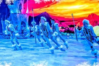 actuación en la pista de hielo
