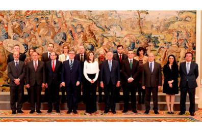 Delegation of the AULA fair with Queen Leticia