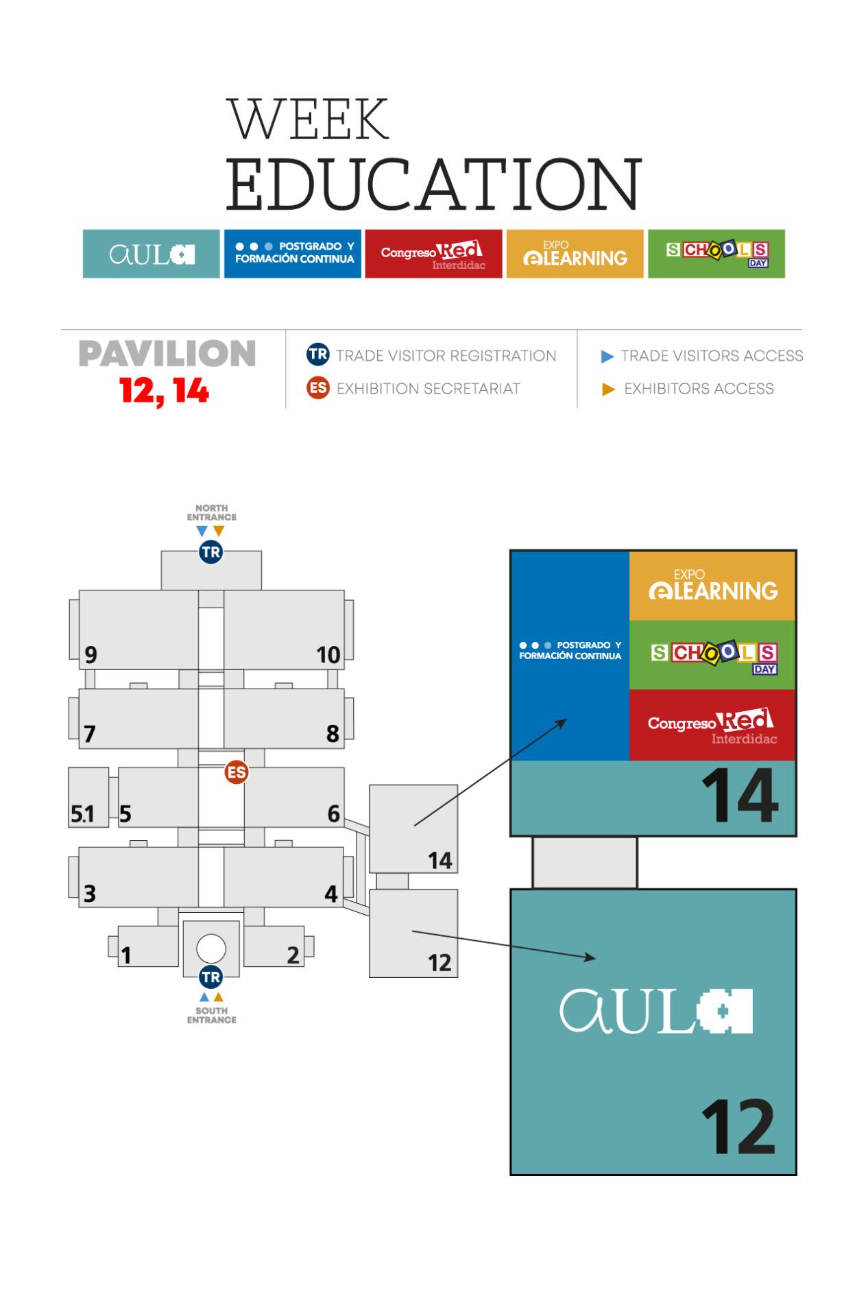 Plano distribución congreso red