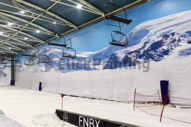Instalación de Click Prnting en el espacio Snow Zone de Xanadú