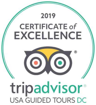 USA Guided Tours Awarded TripAdvisor's Certificate of Excellence in 2019!