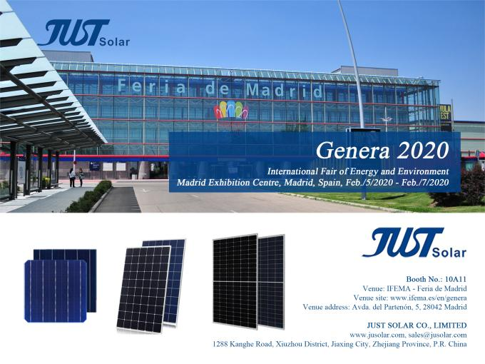 JUST SOLAR to Showcase High-Efficiency PV Products at GENERA 2020