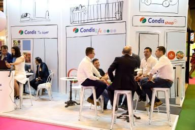 Condis shop stand