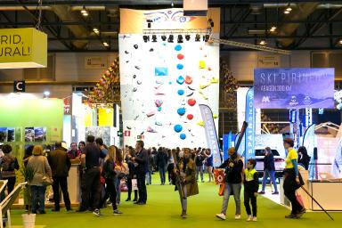 Different stands at the Expotural fair