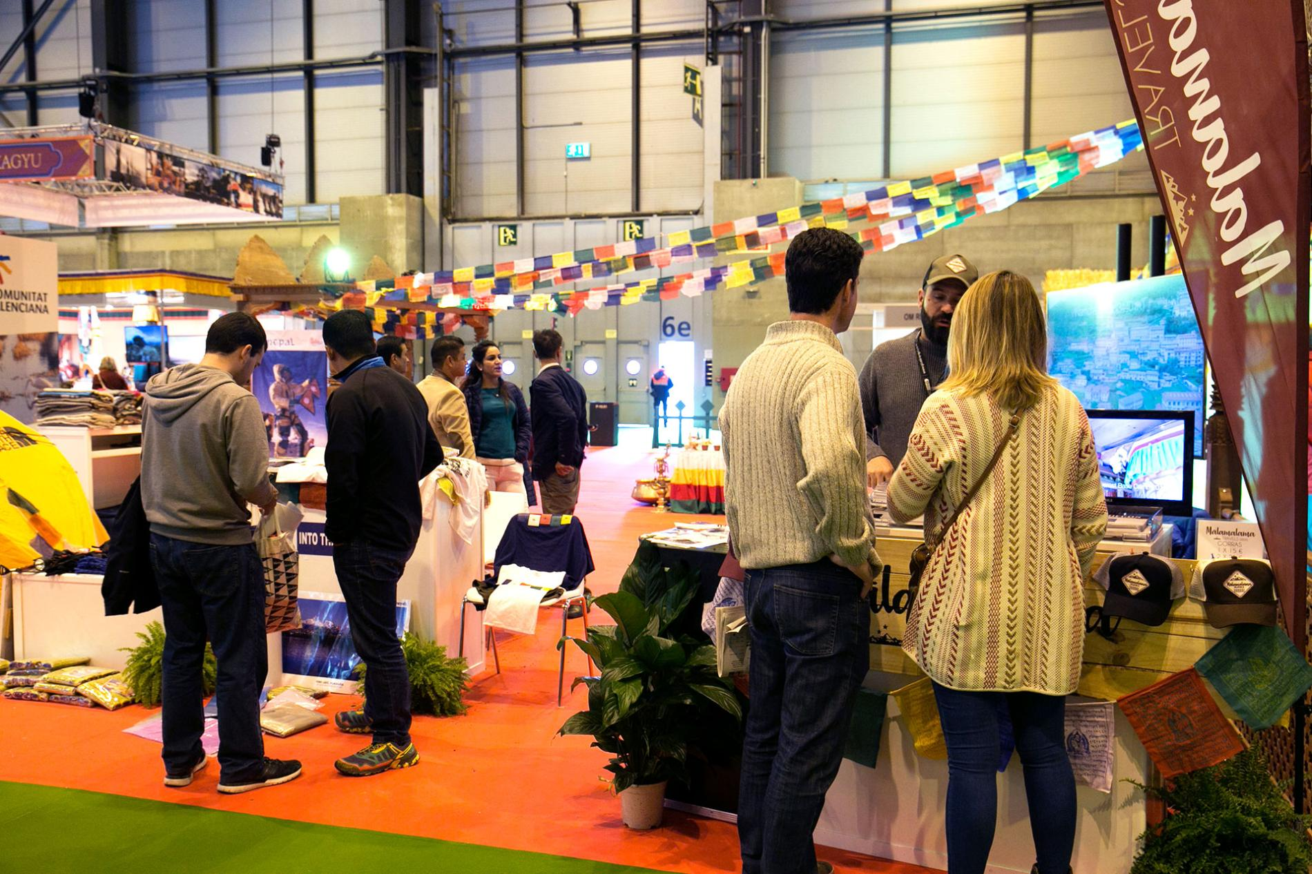 Exhibitors meeting with visitors