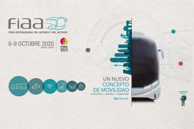 La nueva  imagen  de FIAA  pone en valor los conceptos de seguridad, conectividad y ecología de autobuses y autocares
