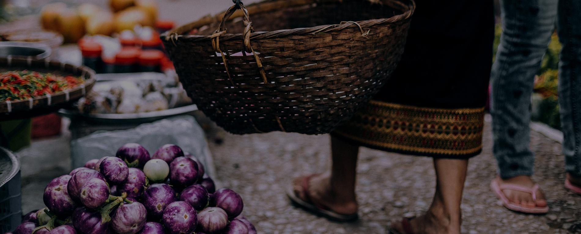 mercado con fruta
