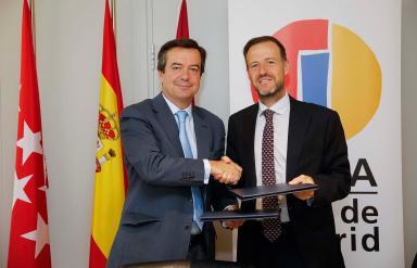 El Director General de IFEMA, Eduardo López Puertas, y el Presidente de SPAINCARES, David Medina, renuevan su alianza para organizar FITUR SALUD 2020