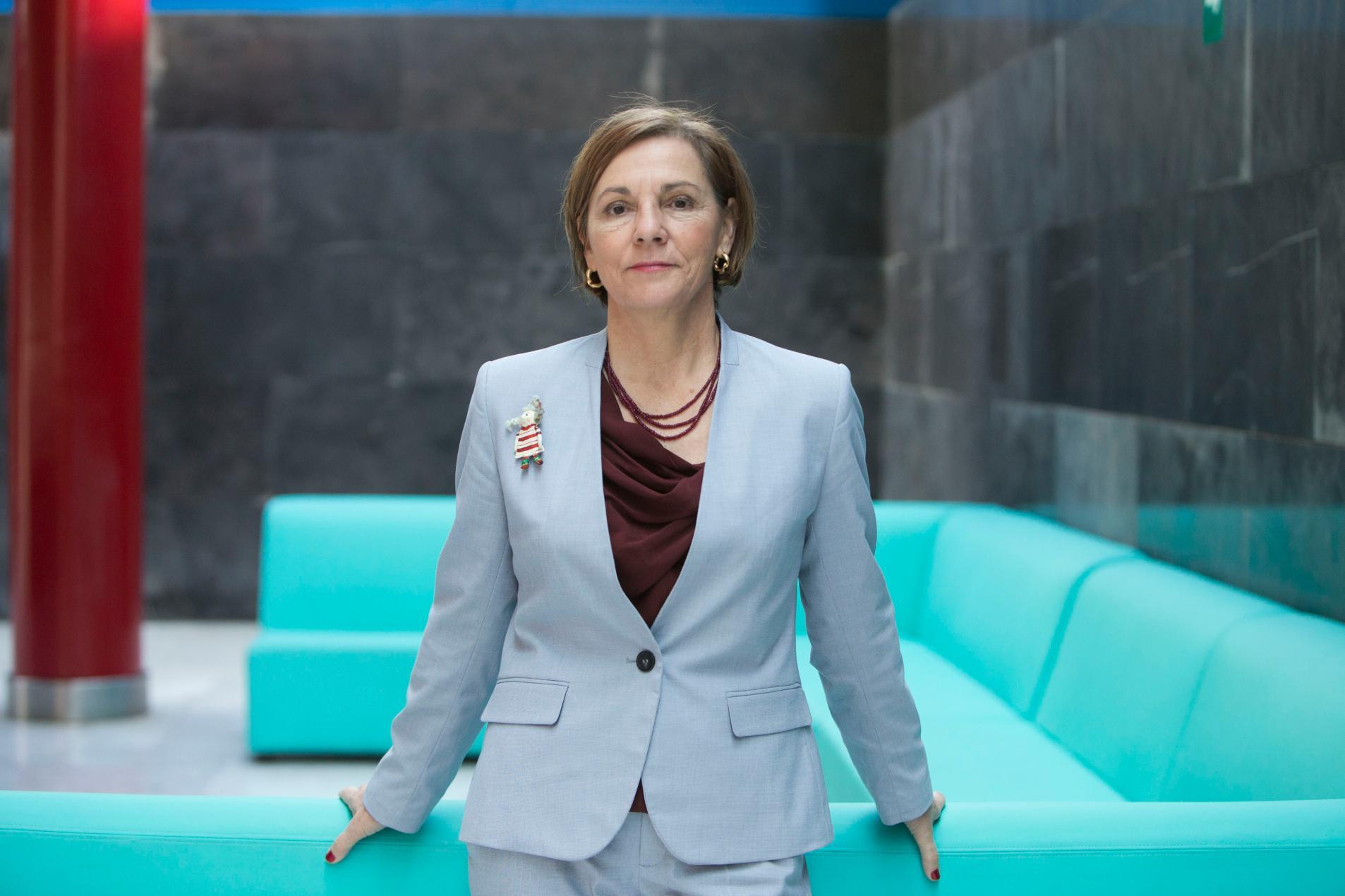 Retrato de Ana Larrañaga, nueva presidenta de la junta de miembros afiliados de la OMT