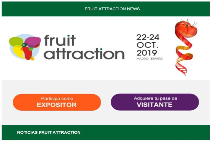 Maximum visibility for Fruit Attraction exhibitors in their digital channels