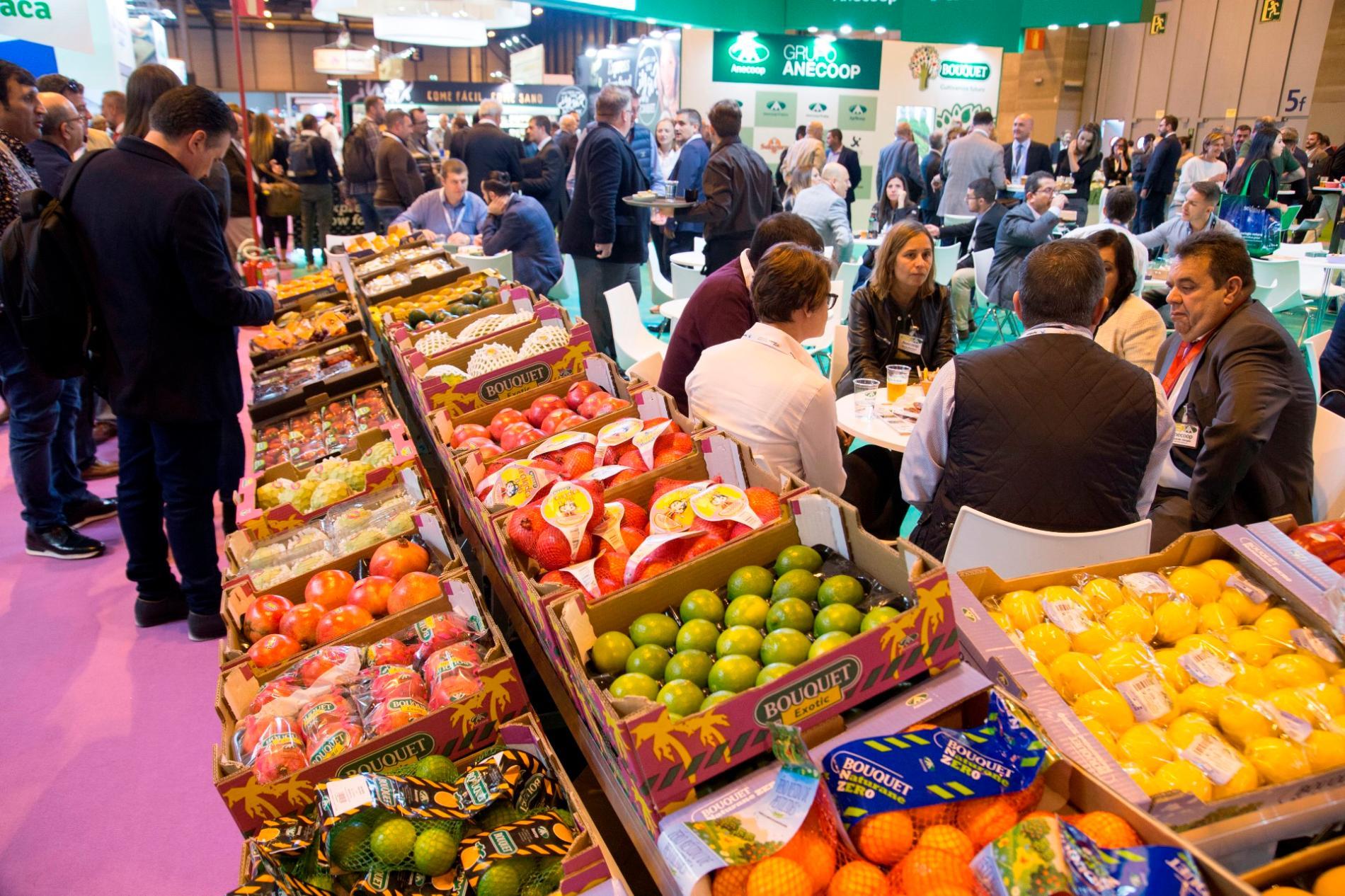 Fruit Attraction aumenta un 10% con relación a 2018, tanto del espacio expositivo, que supera los 55.000 metros cuadrados, como del número de expositores, que asciende a 1.800.