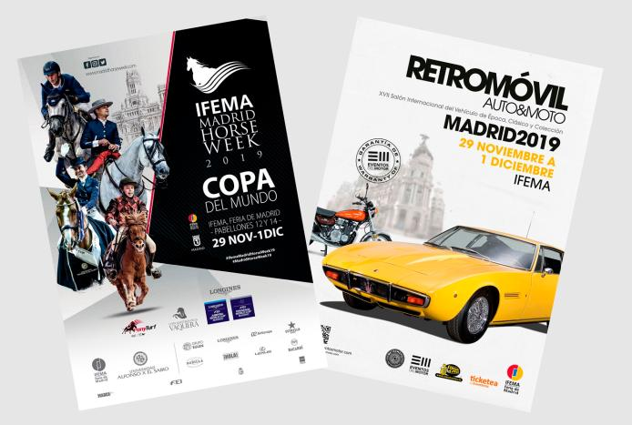 IMAGEN CARTEL RETROMOVIL Y MADRID HORSE WEEK