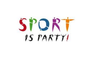 Sport party logo