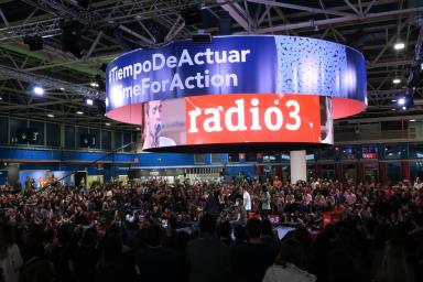 Escenario de Radio 3 en el pabellón 1 de IFEMA