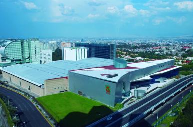 Vista aérea del recinto ferial