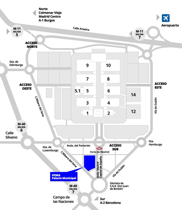 Plano IFEMA Palacio Municipal
