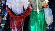 Women wearing the typical Madrilenian dress