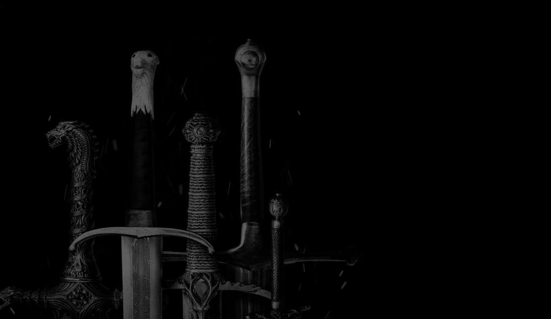 Espadas en blanco y negro