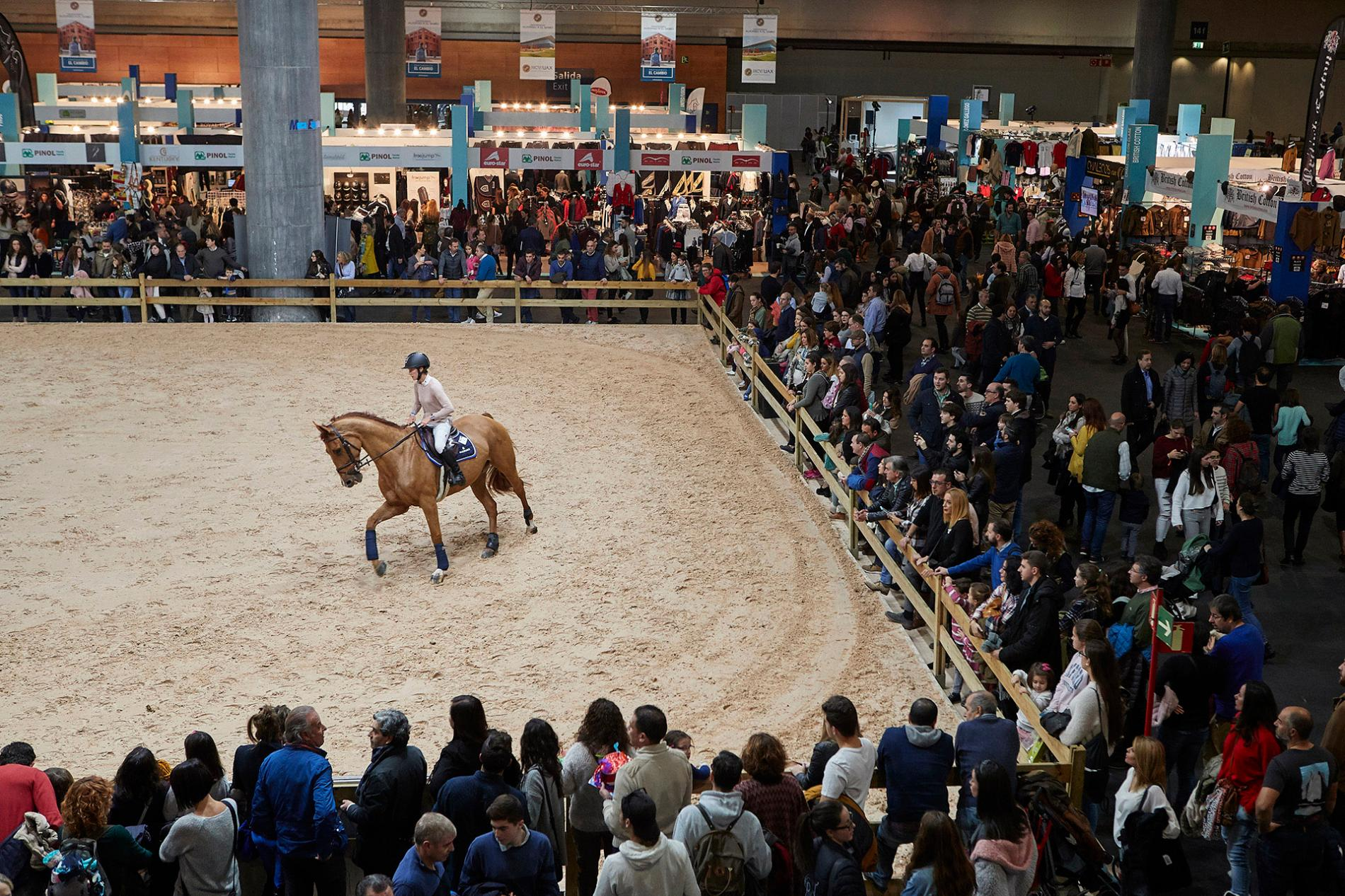 La pista central de IFEMA Madrid Horse Week.