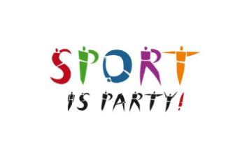 Sport party logo
