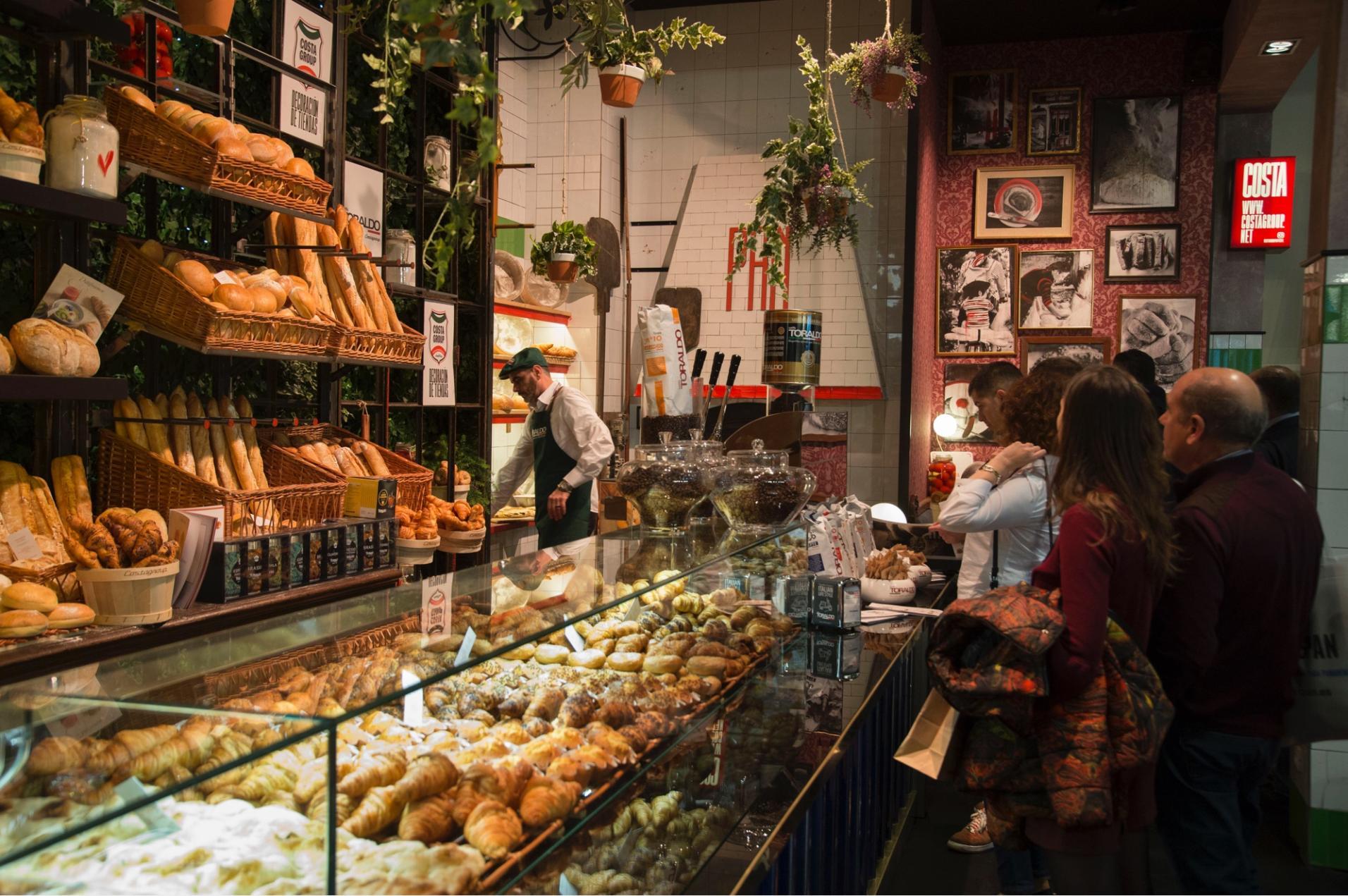 Mostrador de panaderia en intersicop