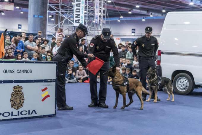 JUVENALIA 2019 Policía Nacional exhibición perros