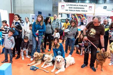 Visitors at the Juvenalia fair