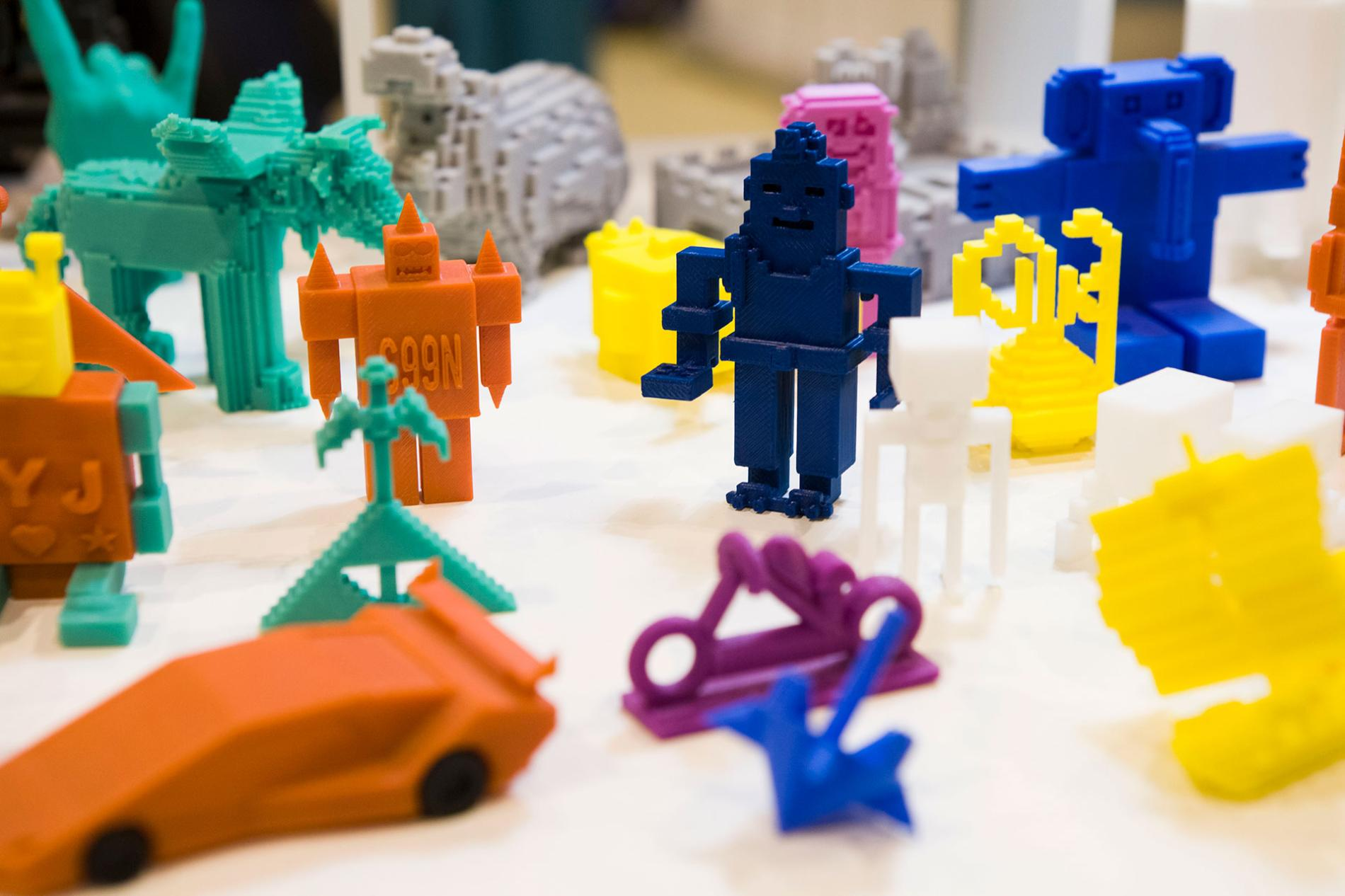 Figures made with a 3d printer