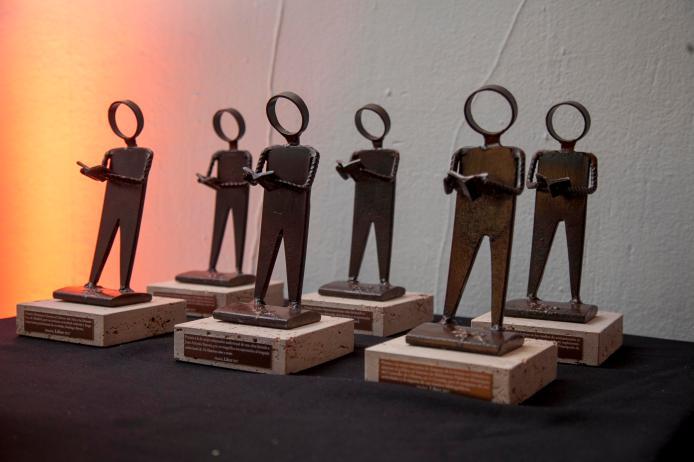 Trofeo que se entregará a los galardonados