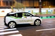 coche eléctrico en movimiento