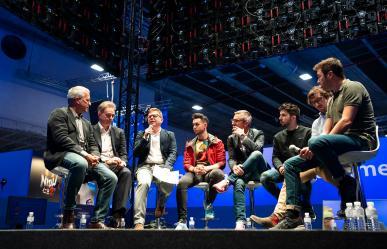 Foto grupo presentación TGA en Madrid Games Week 2019