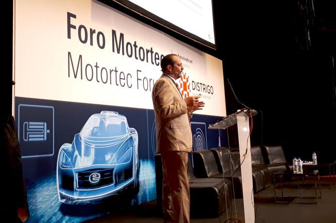 René Moreno during his presentation