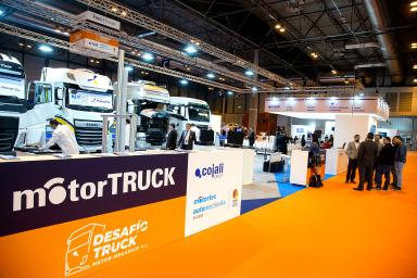 Row of trucks at the Motortruck stand
