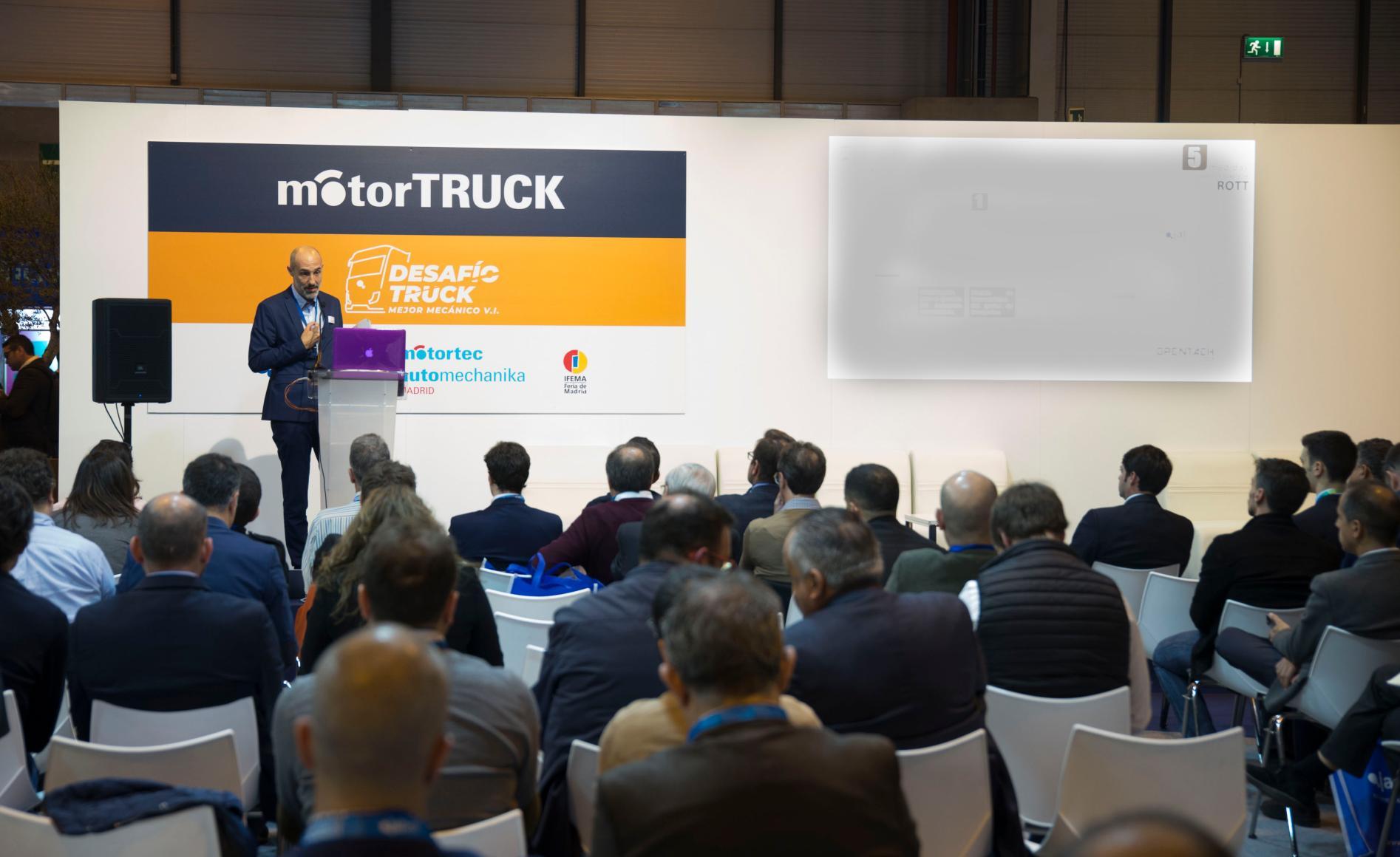 Conferencia en la feria internacional Motortruck