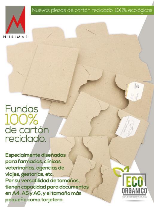 FUNDAS DE CARTÓN RECICLADO. 100% ECOLÓGICAS