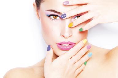 Salon look make-up