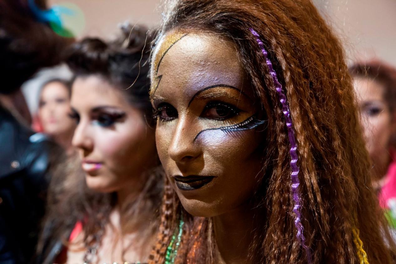 modelos maquilladas en el campeonato