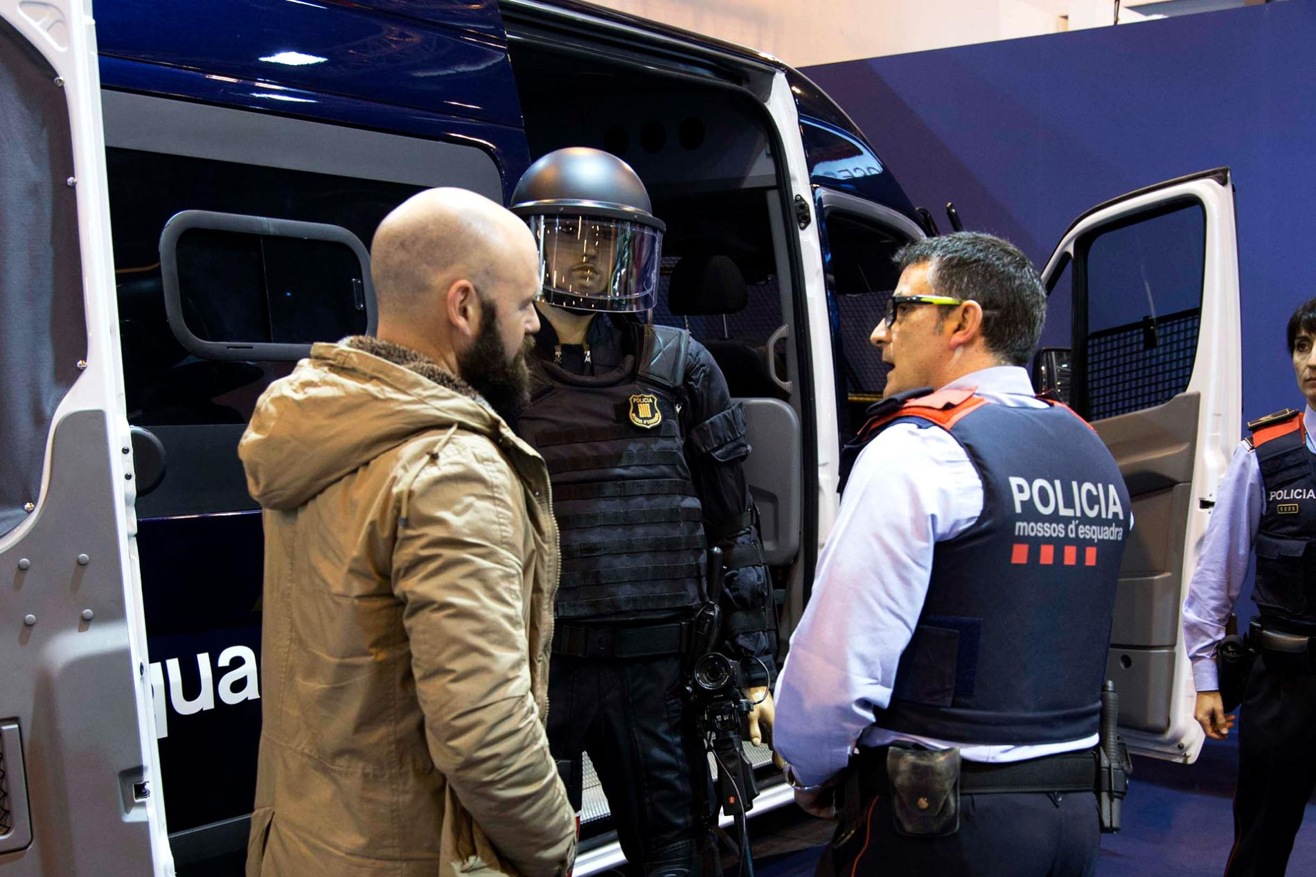 Security body at the Sicur fair