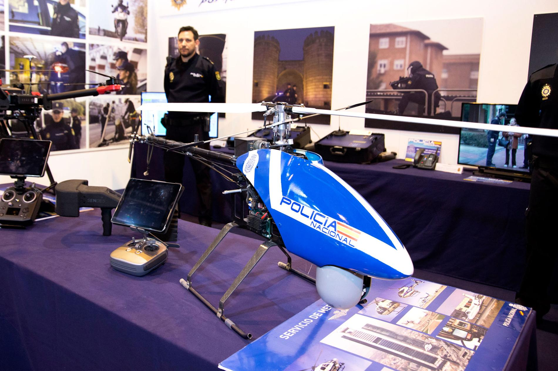 Safety helicopter at the Sicur fair