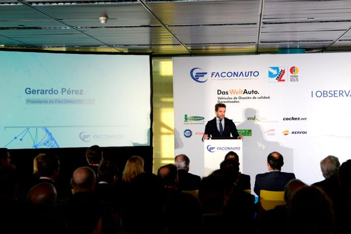 Gerardo Pérez, Presidente de Faconauto en la ponencia