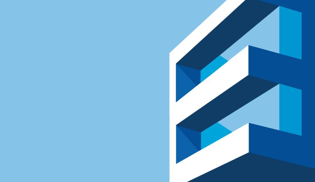 Gráfico de un edificio con fondo azul claro