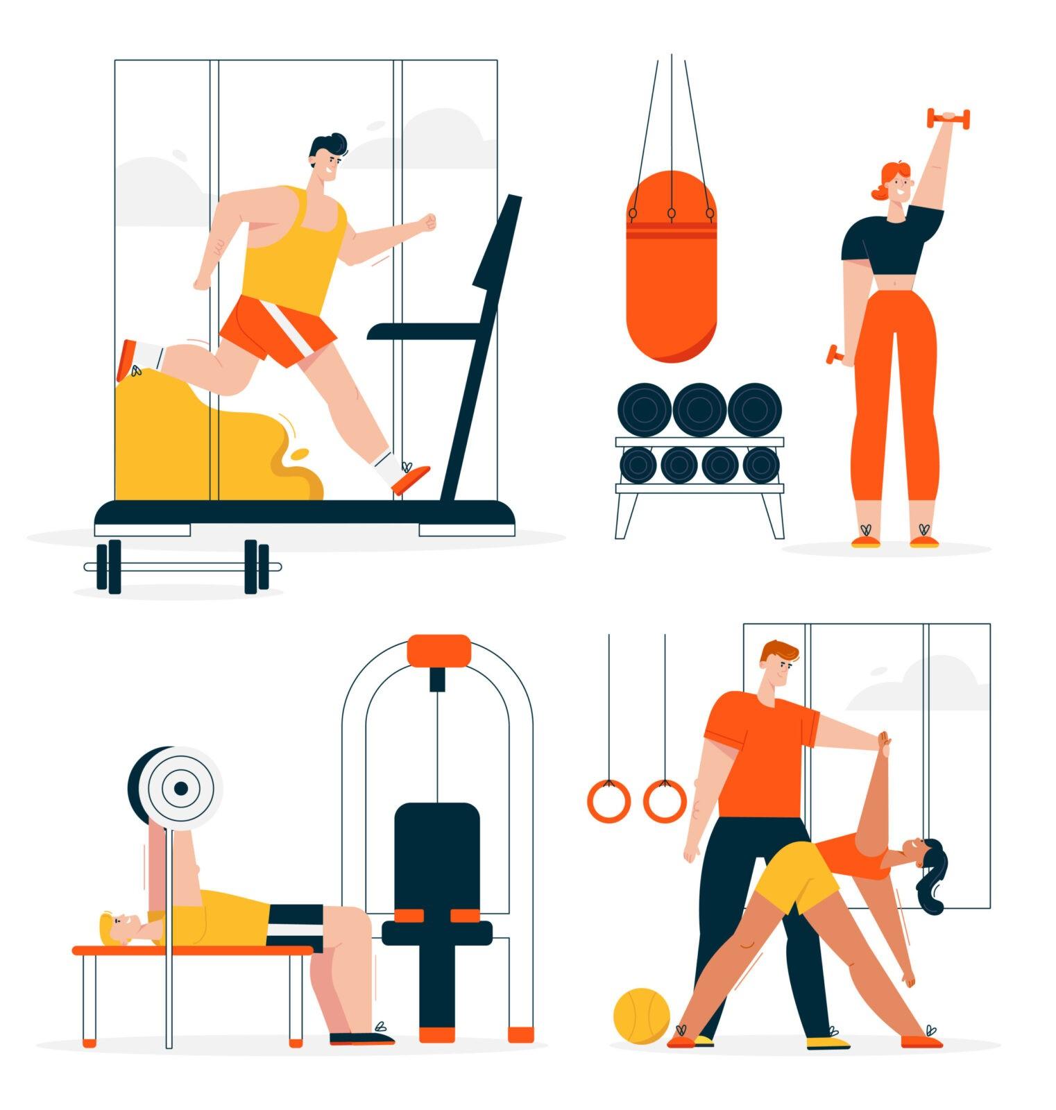 Variedad de ejercicios y regularidad