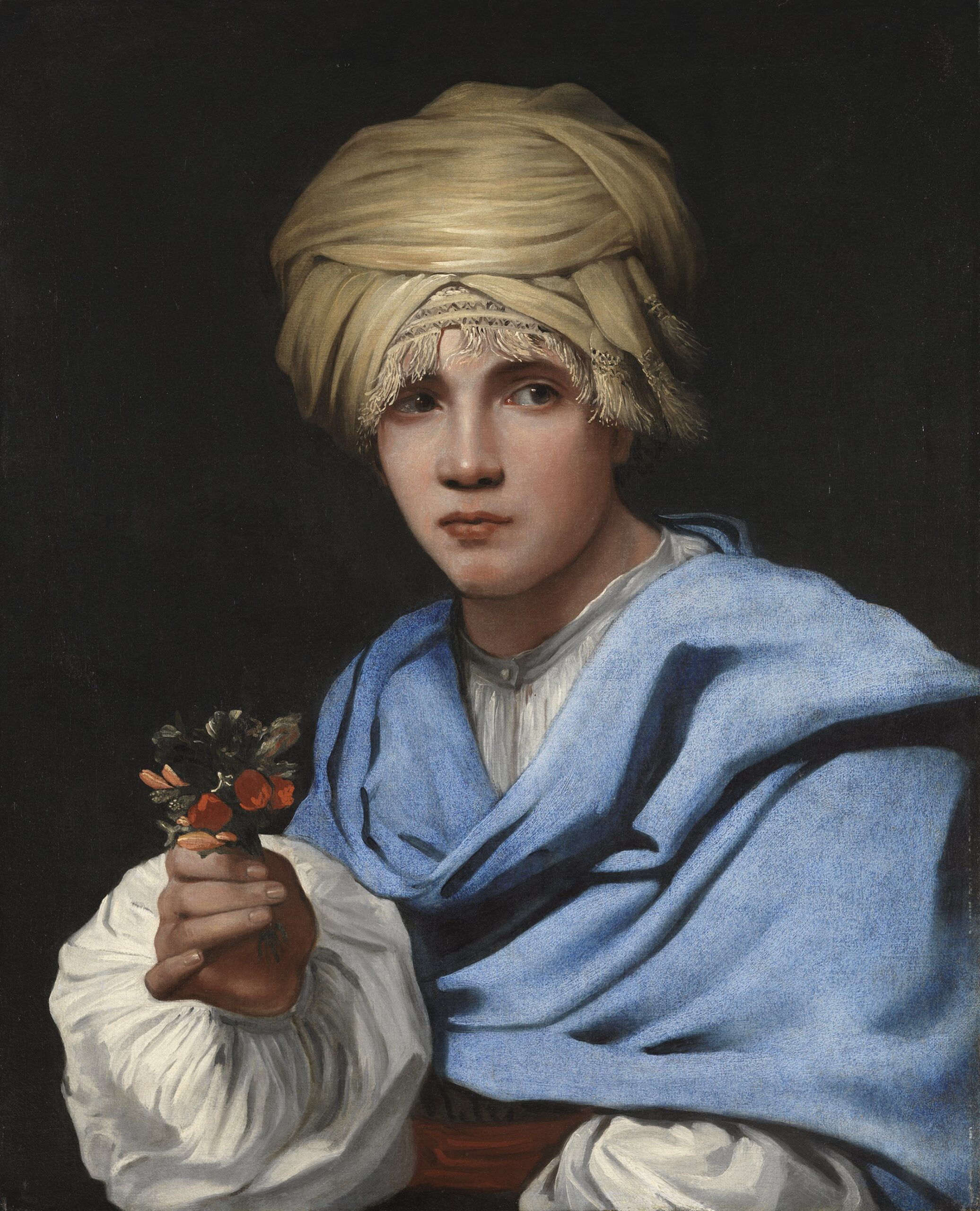 Muchacho con turbante y un ramillete de flores, Museo Thyssen-Bornemisza Madrid