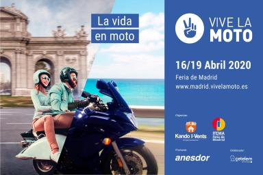 imagen Cartel promocional de VIVE LA MOTO